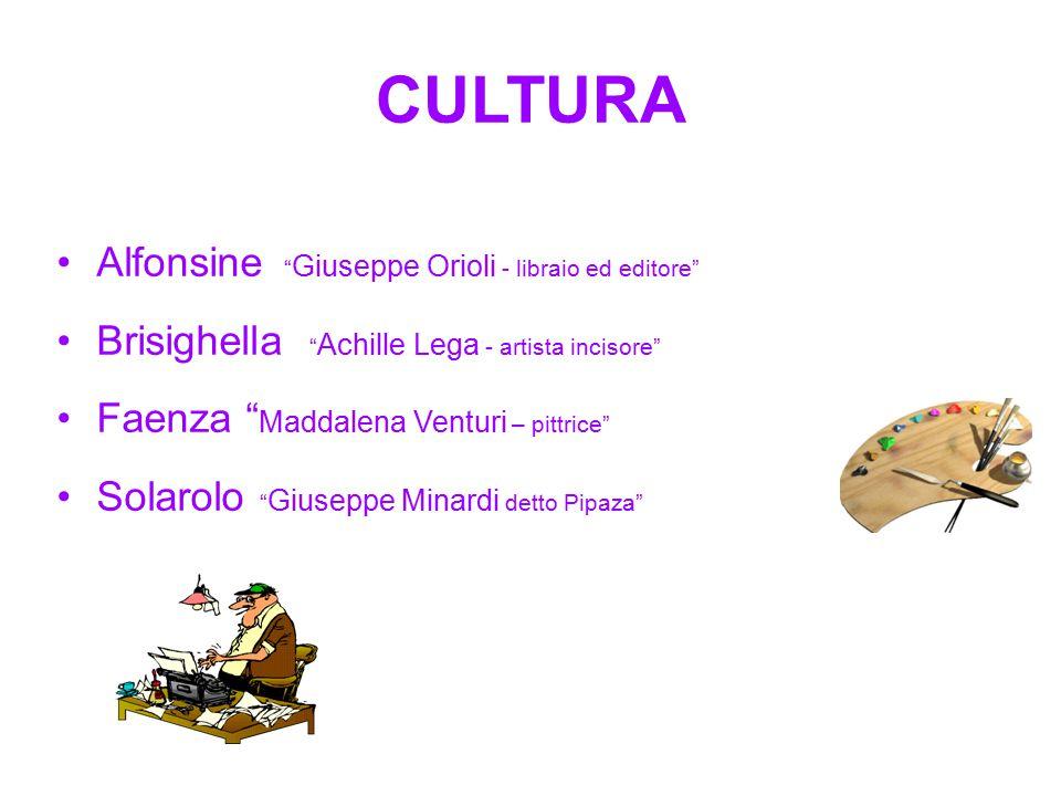 CULTURA Alfonsine Giuseppe Orioli - libraio ed editore