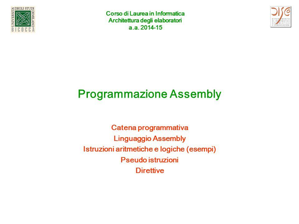 Programmazione Assembly
