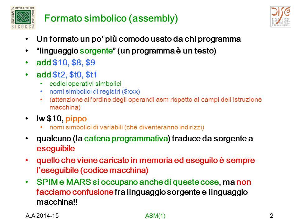 Formato simbolico (assembly)