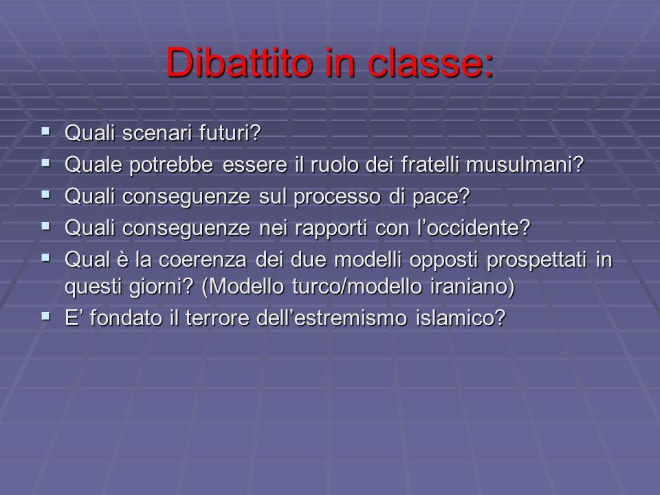 Dibattito in classe: Quali scenari futuri