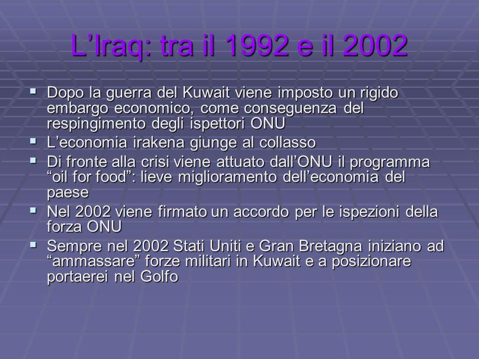 L'Iraq: tra il 1992 e il 2002