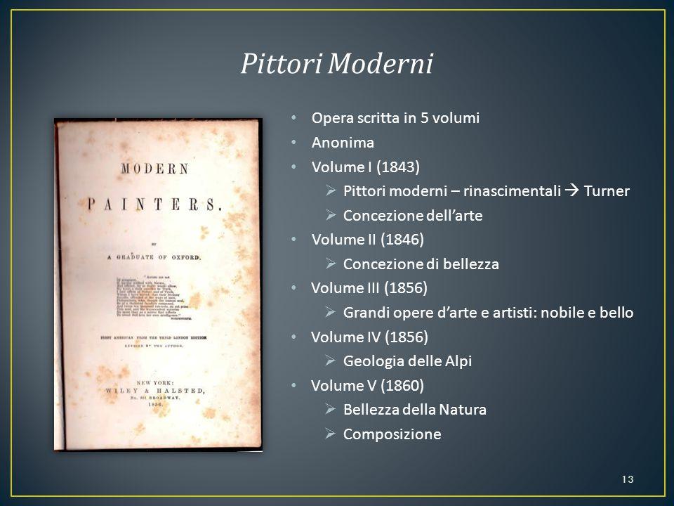 Pittori Moderni Opera scritta in 5 volumi Anonima Volume I (1843)