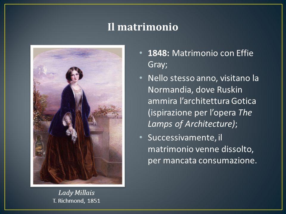 Il matrimonio 1848: Matrimonio con Effie Gray;