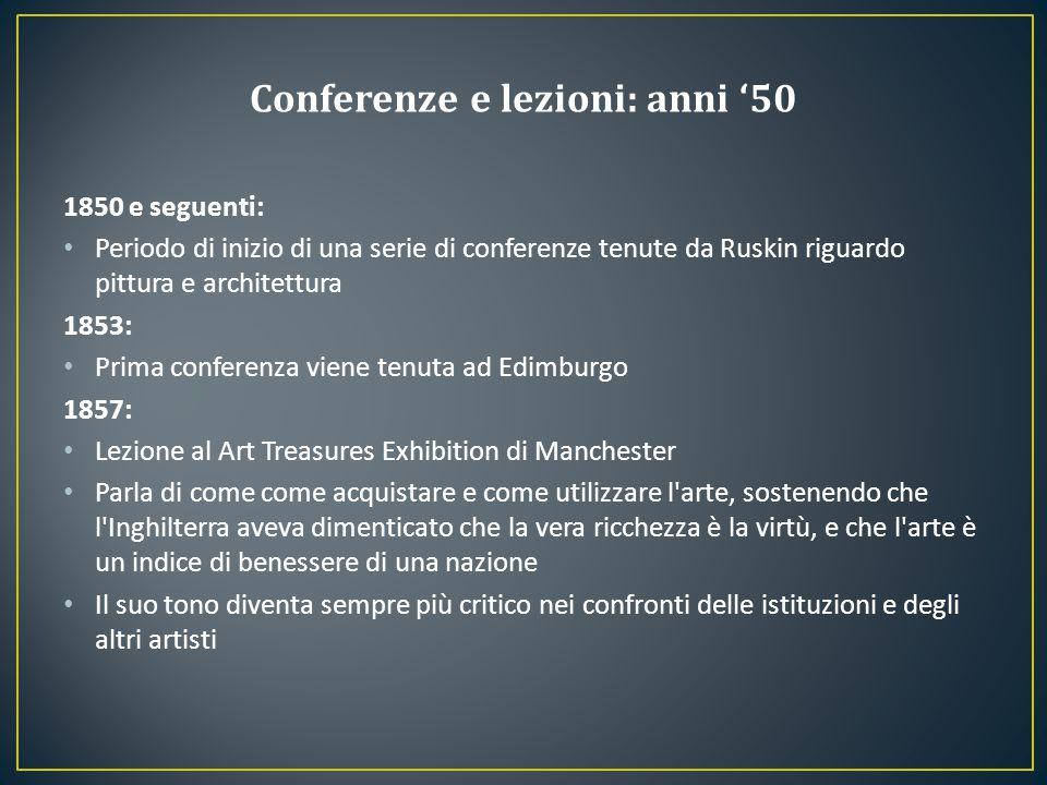 Conferenze e lezioni: anni '50