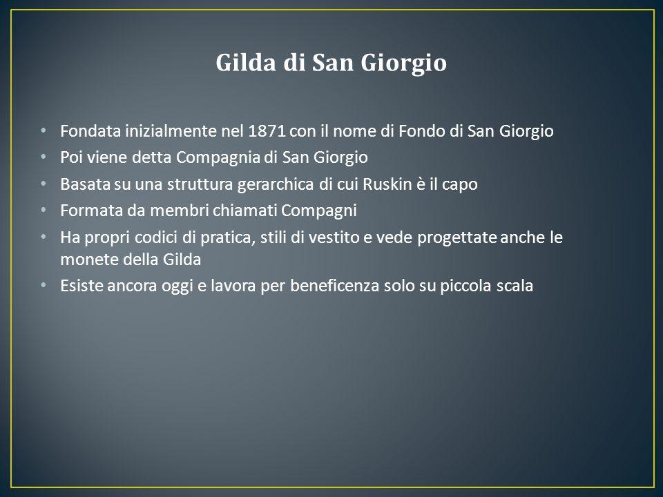 Gilda di San Giorgio Fondata inizialmente nel 1871 con il nome di Fondo di San Giorgio. Poi viene detta Compagnia di San Giorgio.