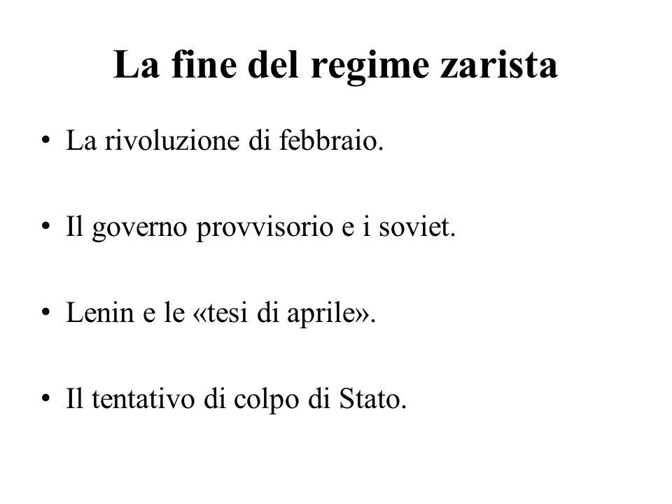 La fine del regime zarista