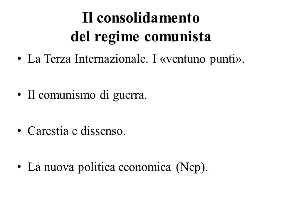 Il consolidamento del regime comunista