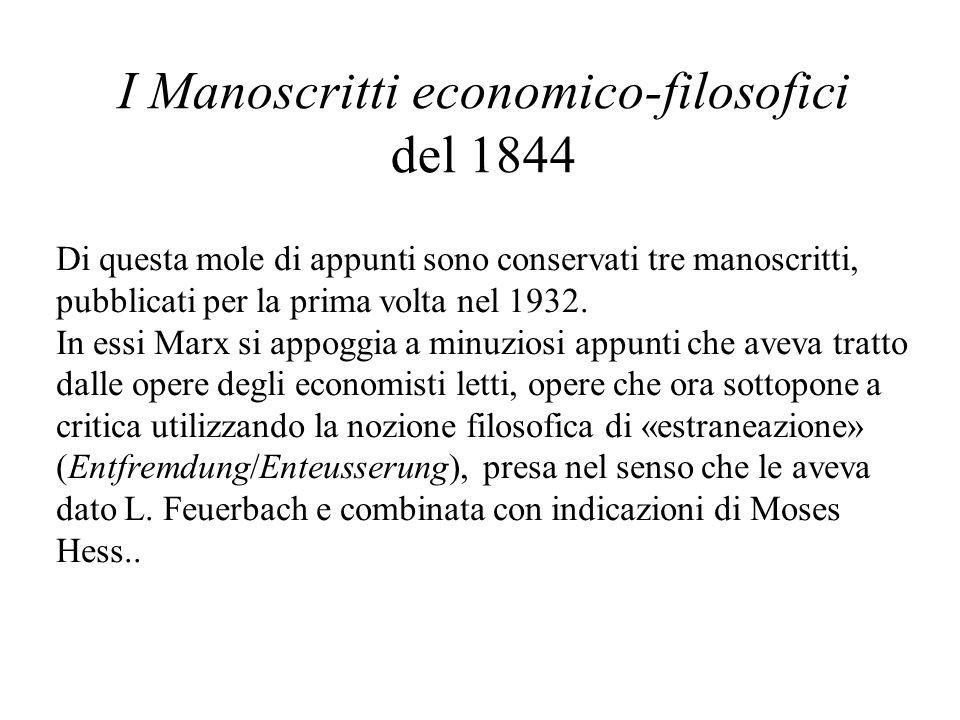 I Manoscritti economico-filosofici del 1844