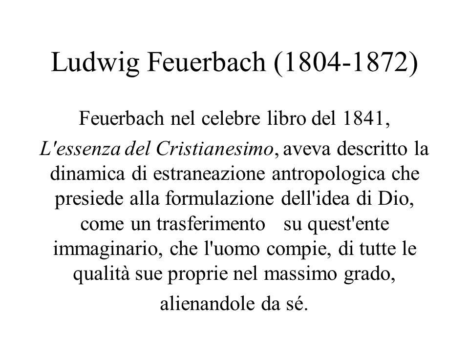 Feuerbach nel celebre libro del 1841,