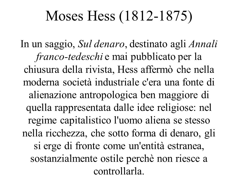 Moses Hess (1812-1875)