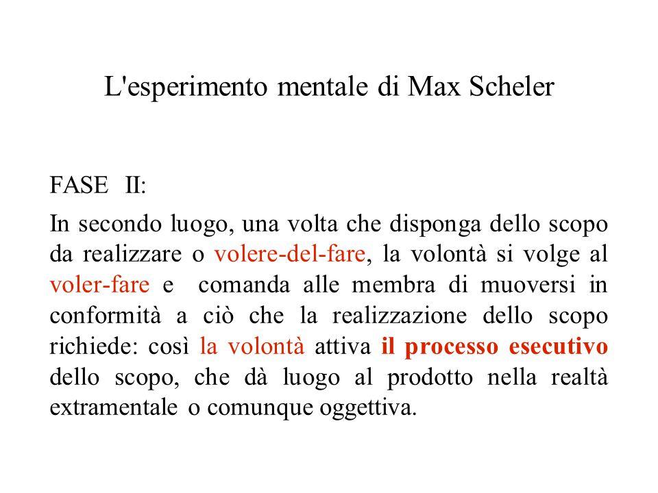 L esperimento mentale di Max Scheler