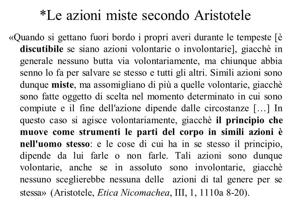 *Le azioni miste secondo Aristotele