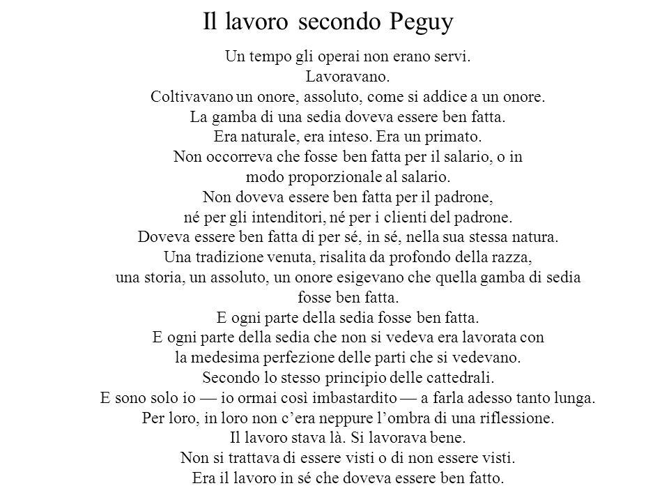 Il lavoro secondo Peguy