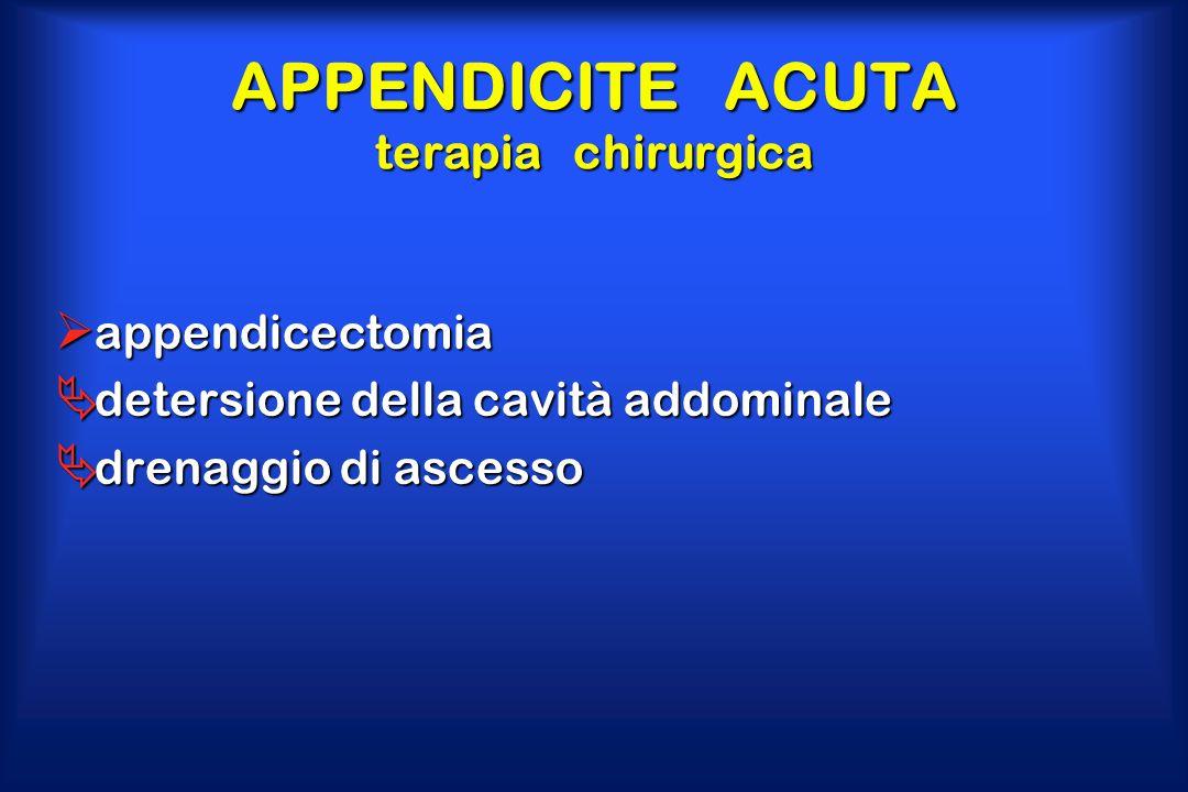 APPENDICITE ACUTA terapia chirurgica
