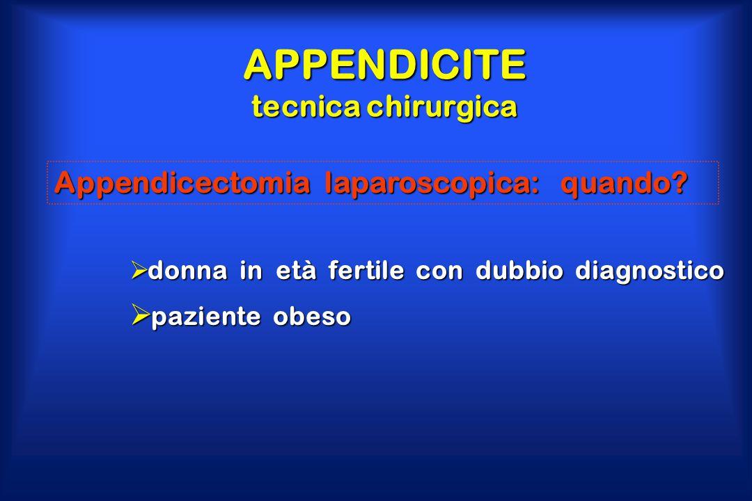 APPENDICITE tecnica chirurgica