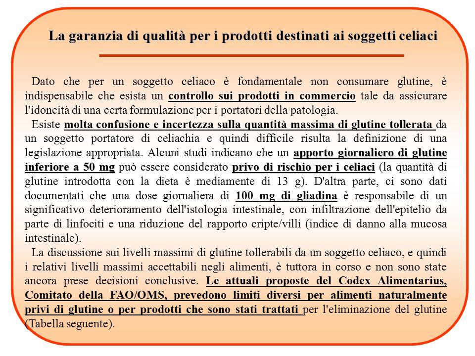 La garanzia di qualità per i prodotti destinati ai soggetti celiaci