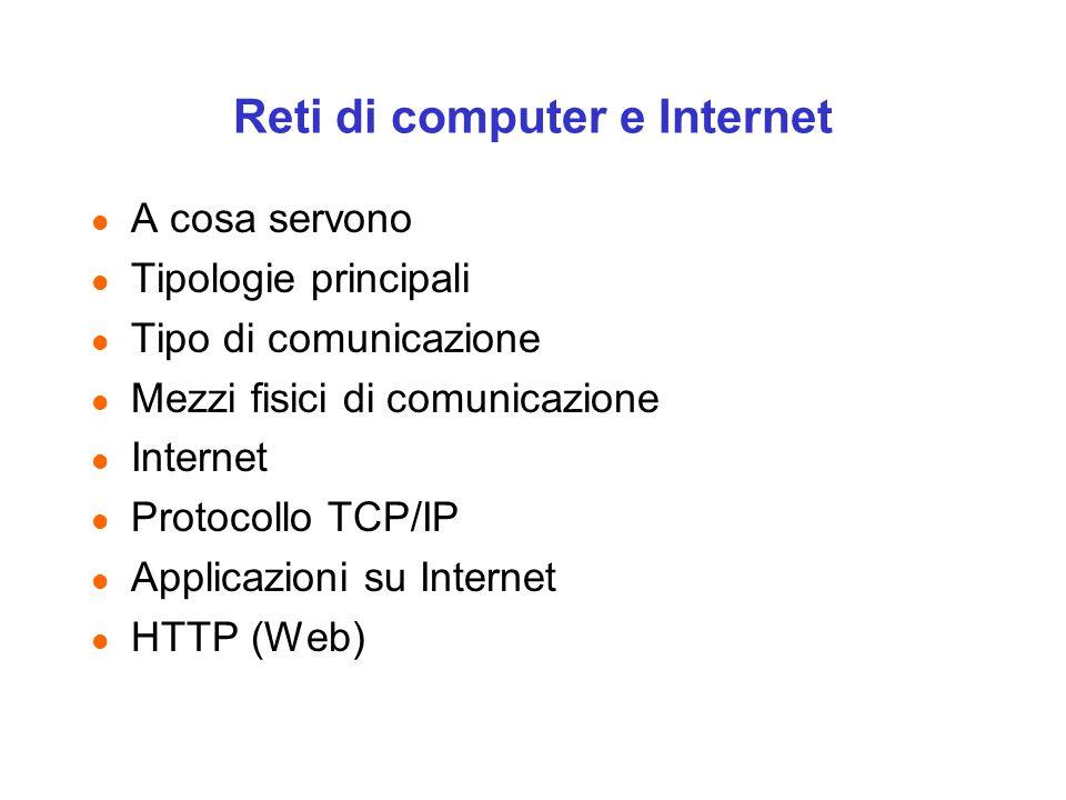 Reti di computer e Internet