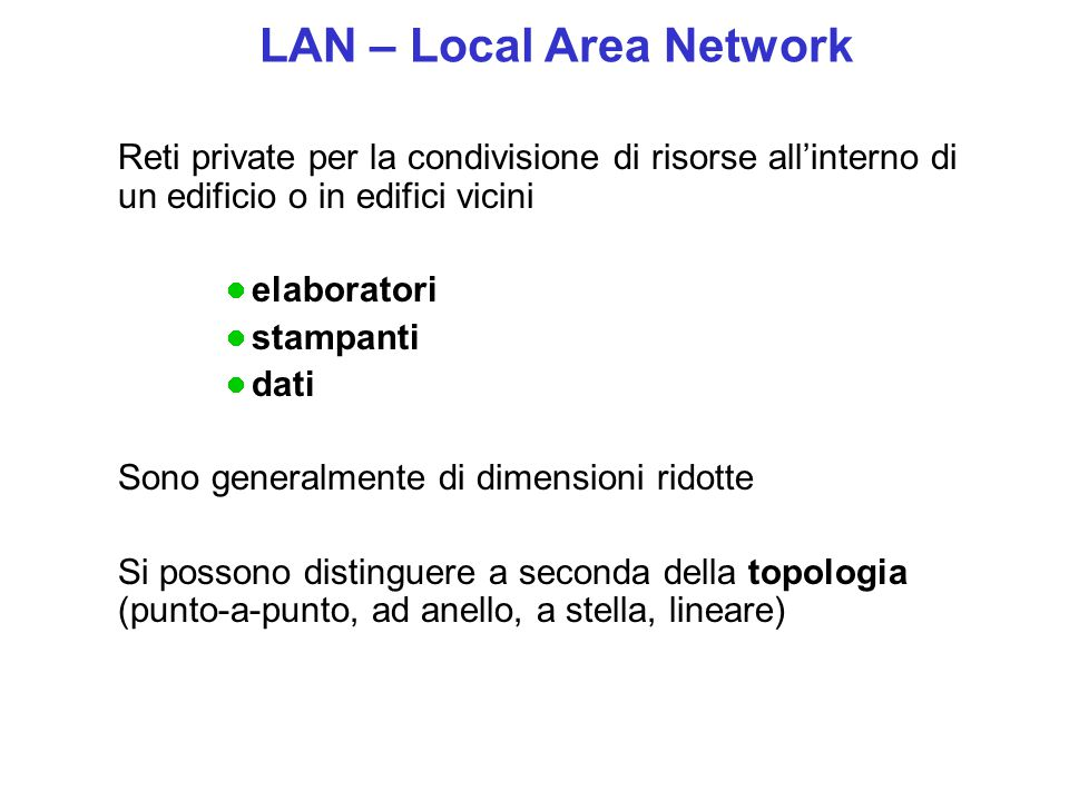 LAN – Local Area Network