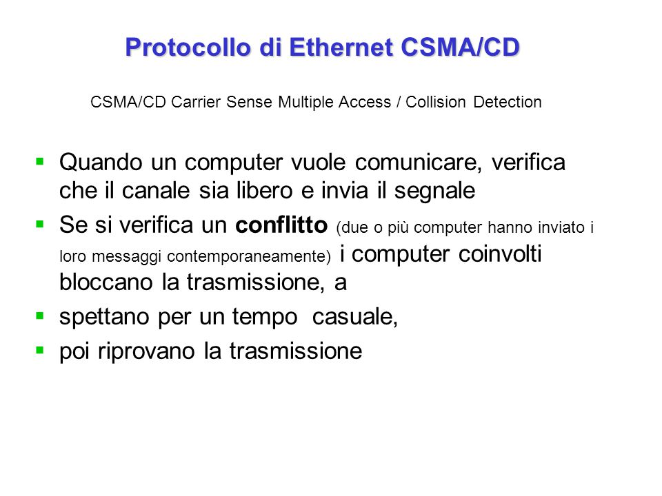 Protocollo di Ethernet CSMA/CD
