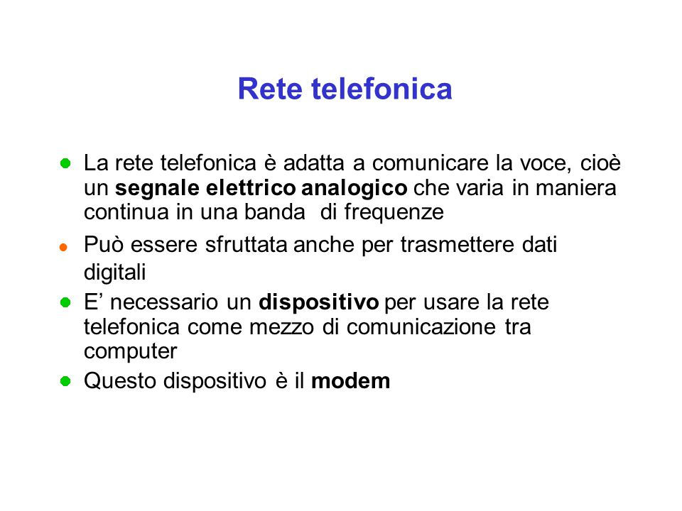 Rete telefonica