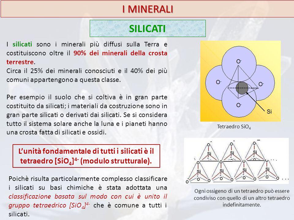 I MINERALI SILICATI. I silicati sono i minerali più diffusi sulla Terra e costituiscono oltre il 90% dei minerali della crosta terrestre.
