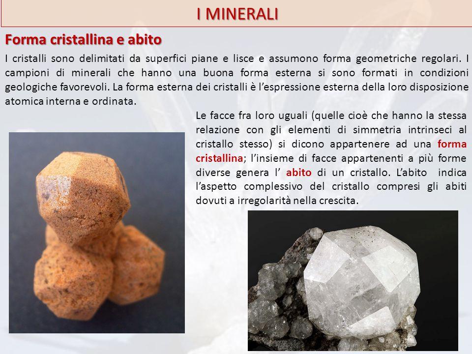 I MINERALI Forma cristallina e abito