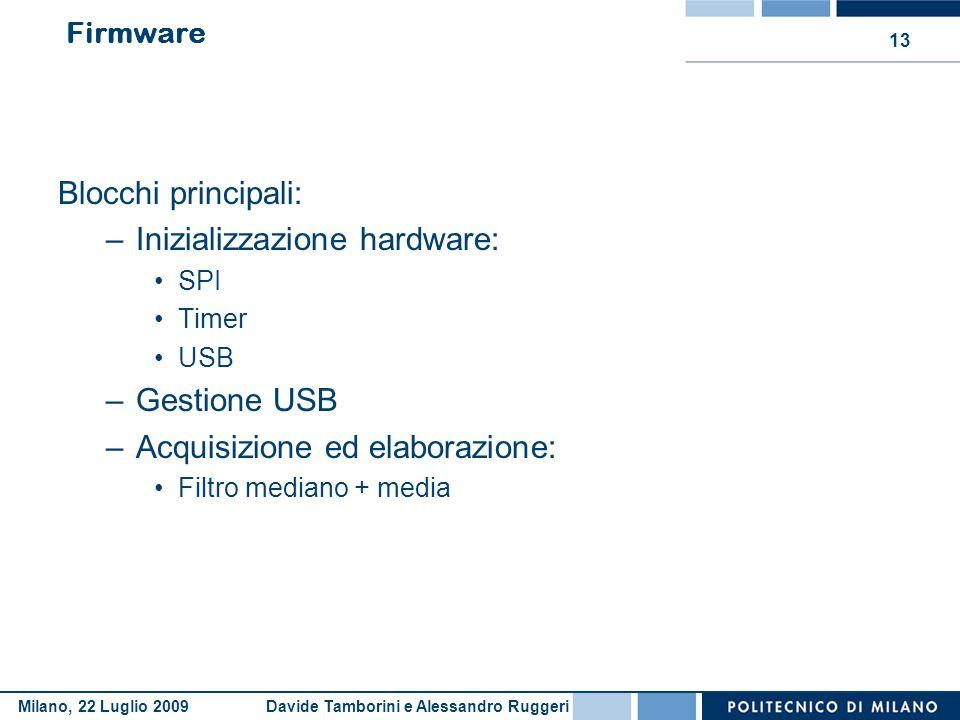 Inizializzazione hardware: