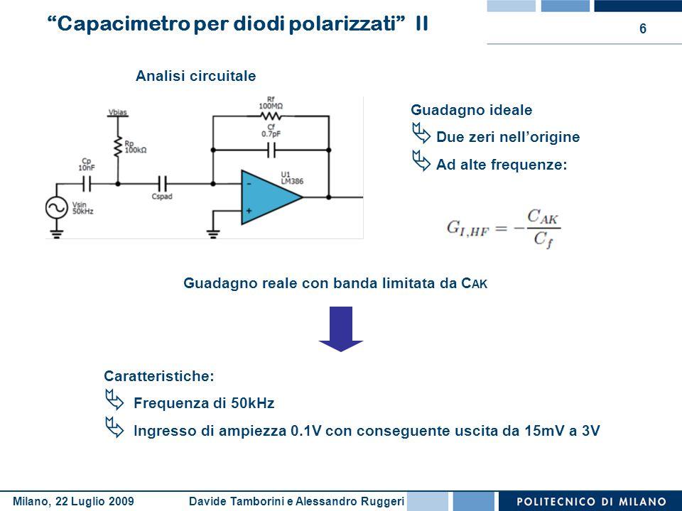 Capacimetro per diodi polarizzati II