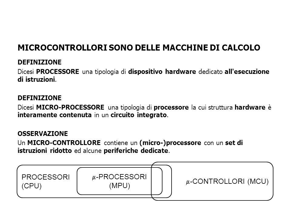 MICROCONTROLLORI SONO DELLE MACCHINE DI CALCOLO