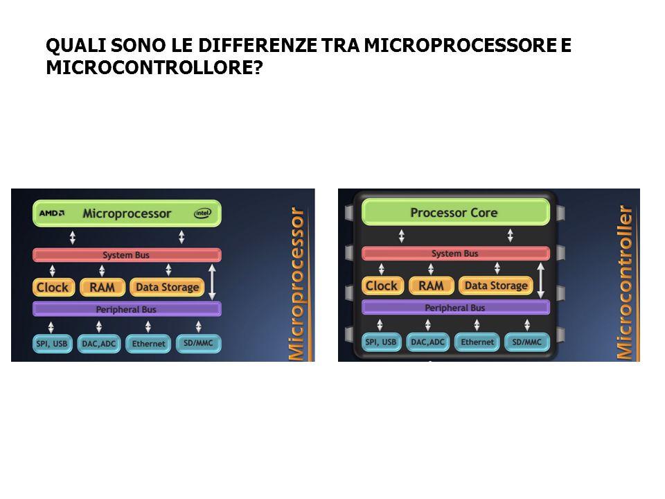 QUALI SONO LE DIFFERENZE TRA MICROPROCESSORE E MICROCONTROLLORE