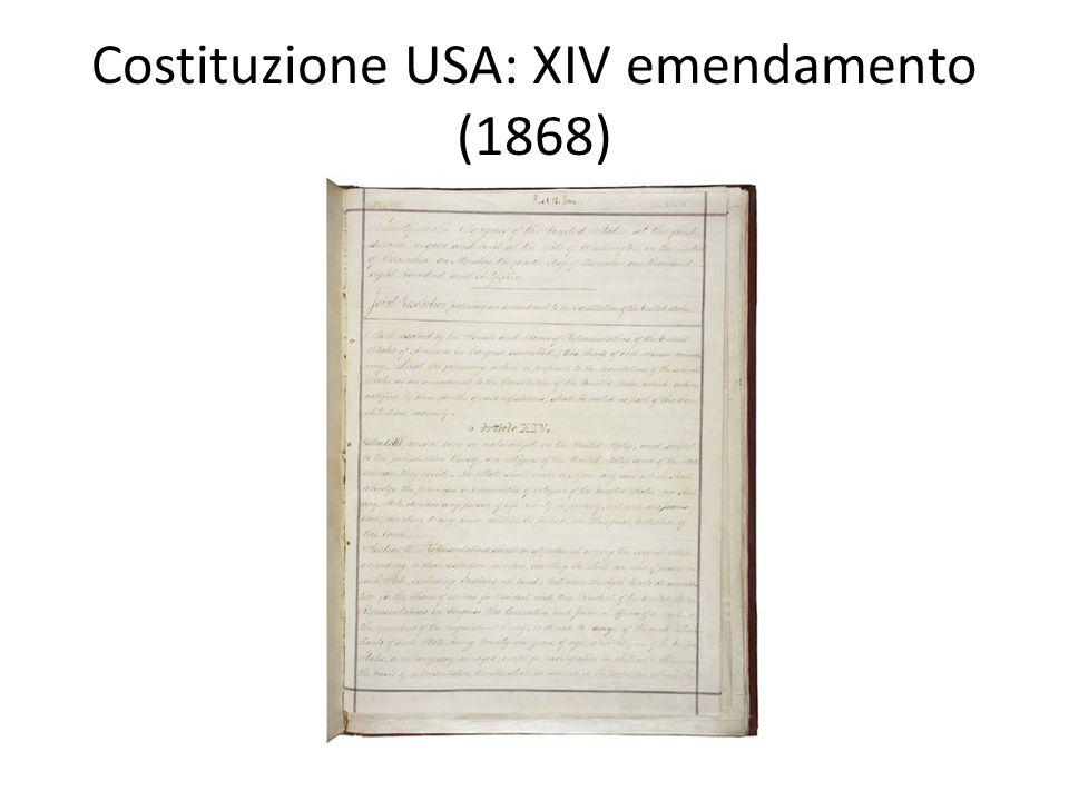 Costituzione USA: XIV emendamento (1868)