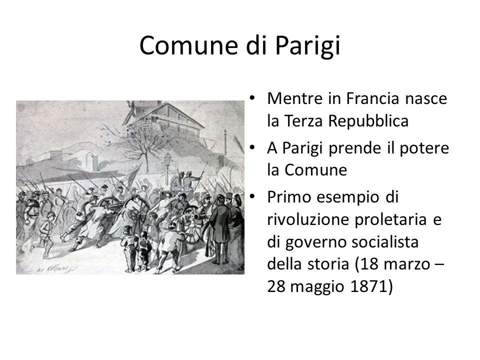 Comune di Parigi Mentre in Francia nasce la Terza Repubblica