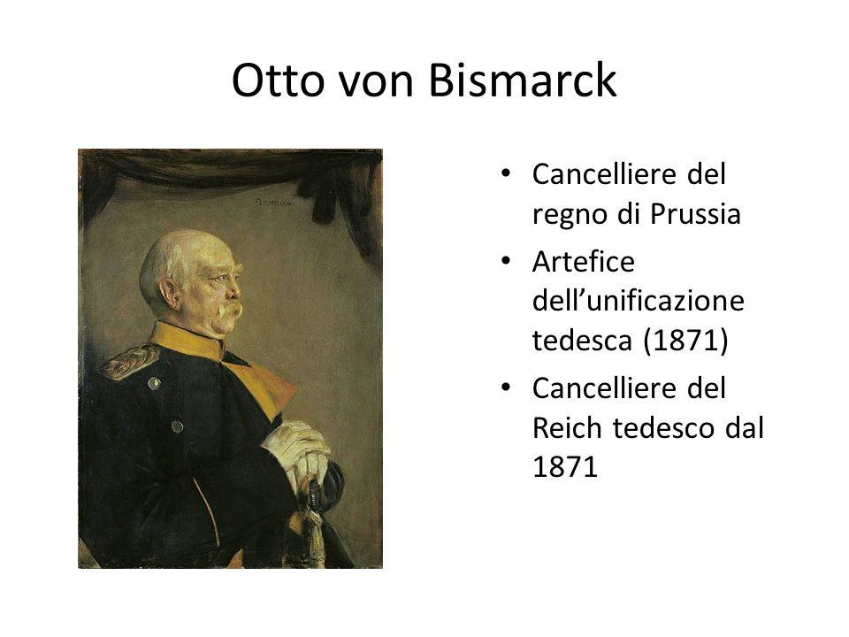 Otto von Bismarck Cancelliere del regno di Prussia