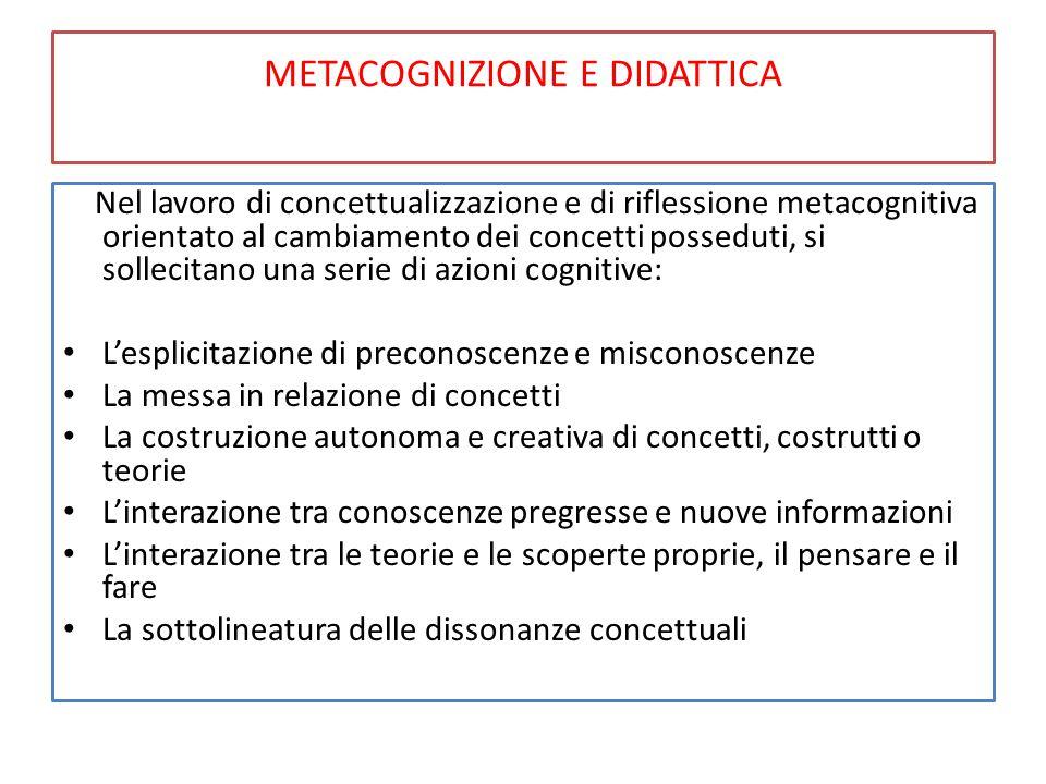 METACOGNIZIONE E DIDATTICA