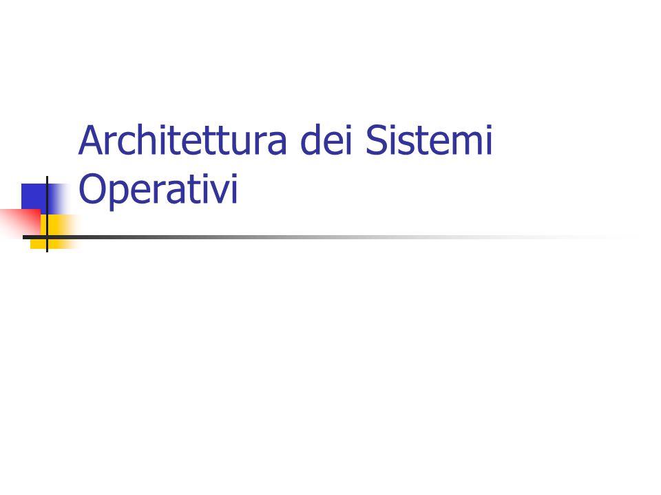 Architettura dei Sistemi Operativi