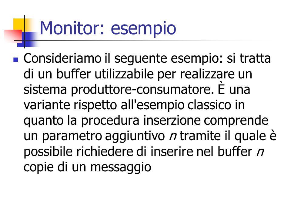 Monitor: esempio