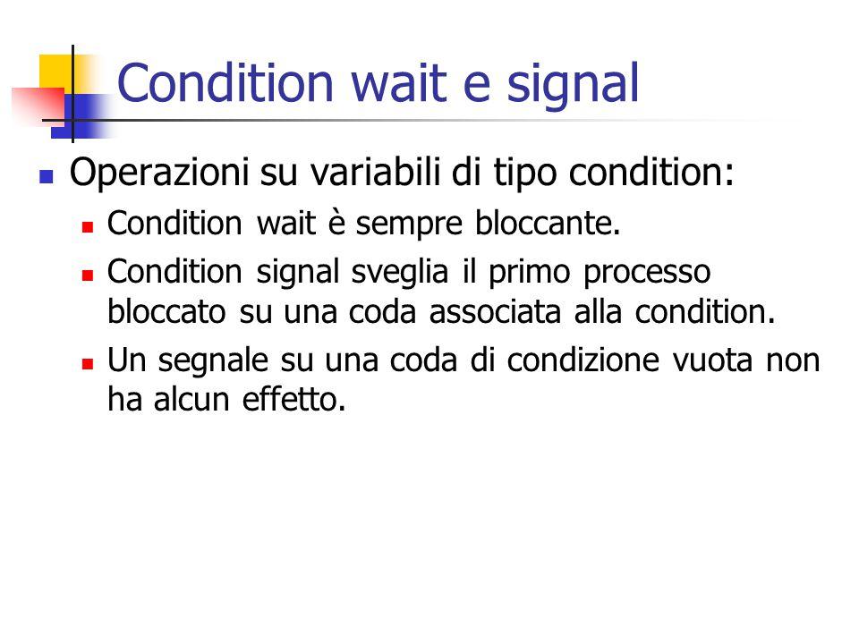 Condition wait e signal
