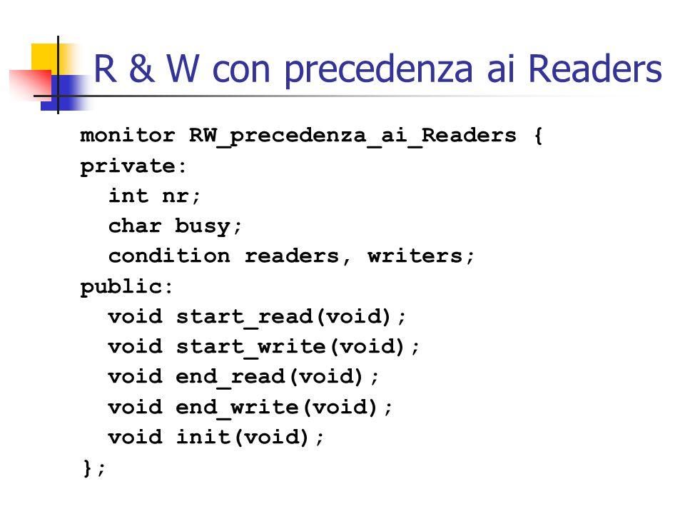 R & W con precedenza ai Readers