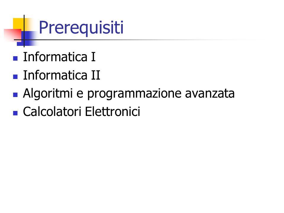 Prerequisiti Informatica I Informatica II