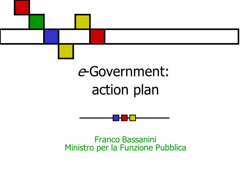 e-Government: action plan