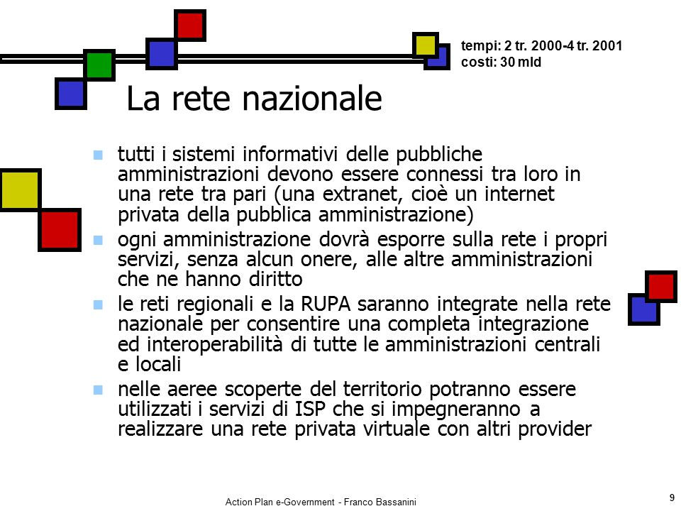 Action Plan e-Government - Franco Bassanini