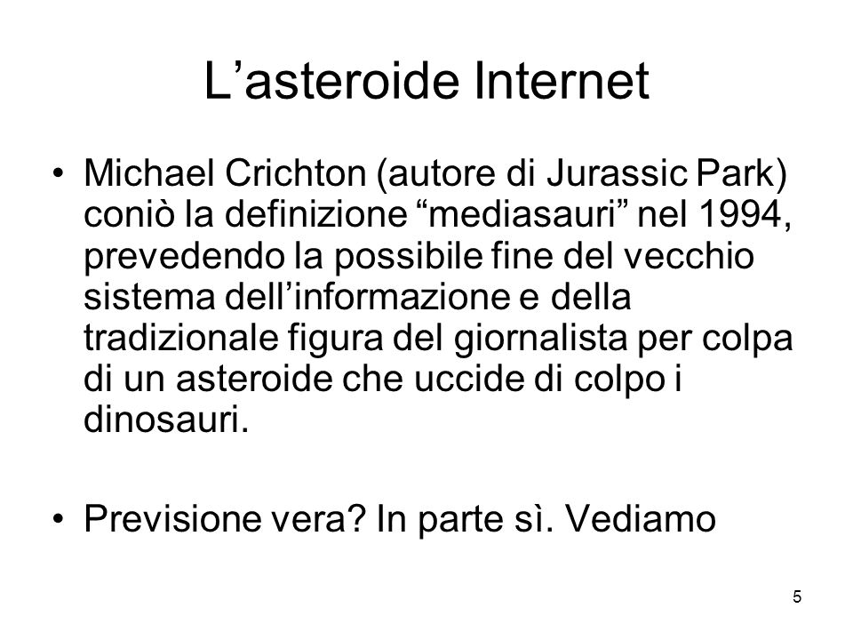 L'asteroide Internet