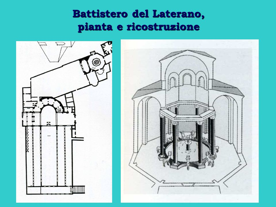 Battistero del Laterano, pianta e ricostruzione
