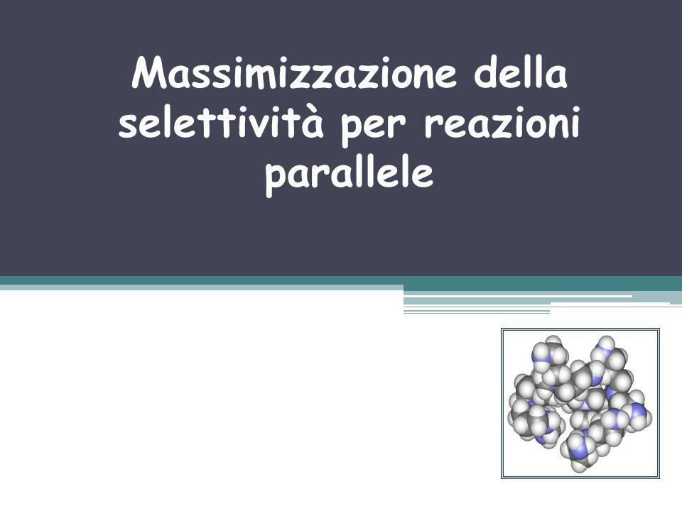 Massimizzazione della selettività per reazioni parallele