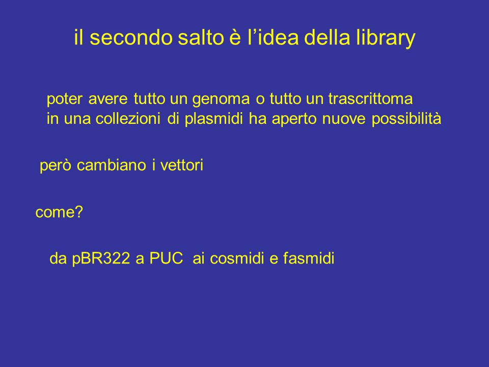 il secondo salto è l'idea della library