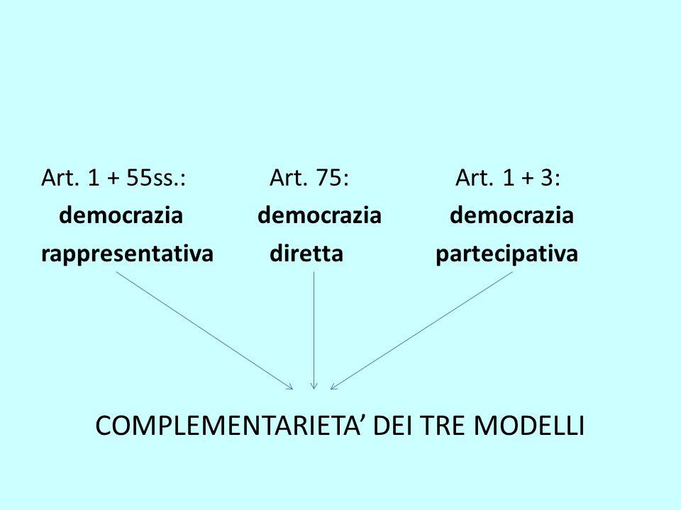 COMPLEMENTARIETA' DEI TRE MODELLI