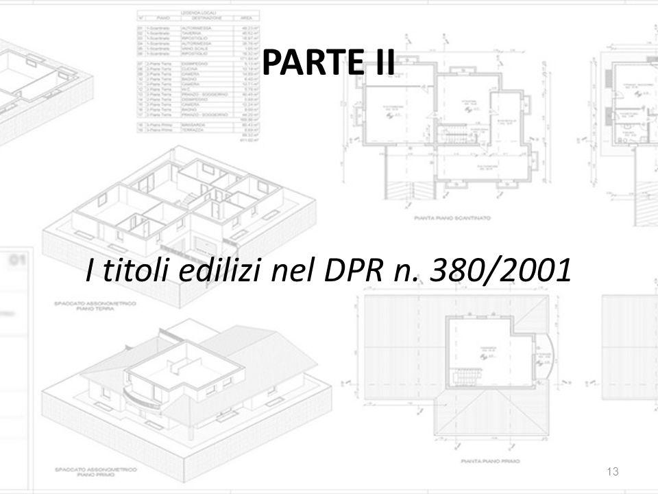 I titoli edilizi nel DPR n. 380/2001