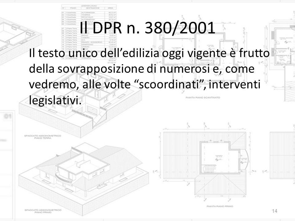 Il DPR n. 380/2001