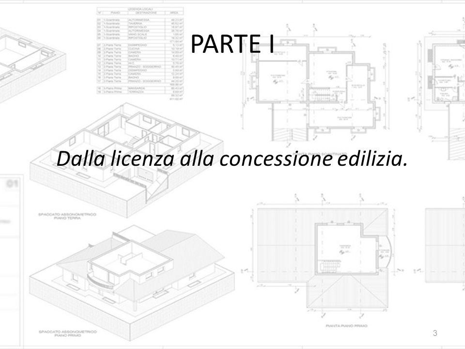 Dalla licenza alla concessione edilizia.