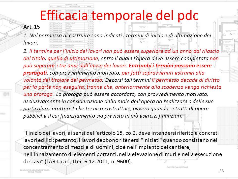 Efficacia temporale del pdc